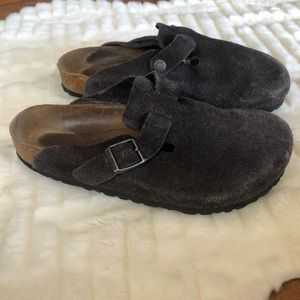 Birkenstock Briwn leather Mule clog size 9